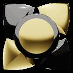Next Launcher Theme black gold Icon