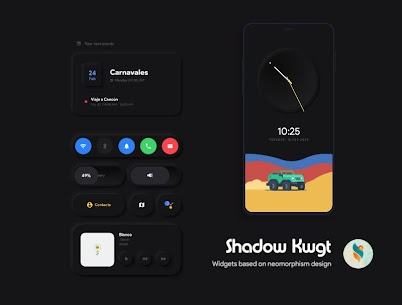 Shadow KWGT Pro Apk 3.0 (Perched) 6