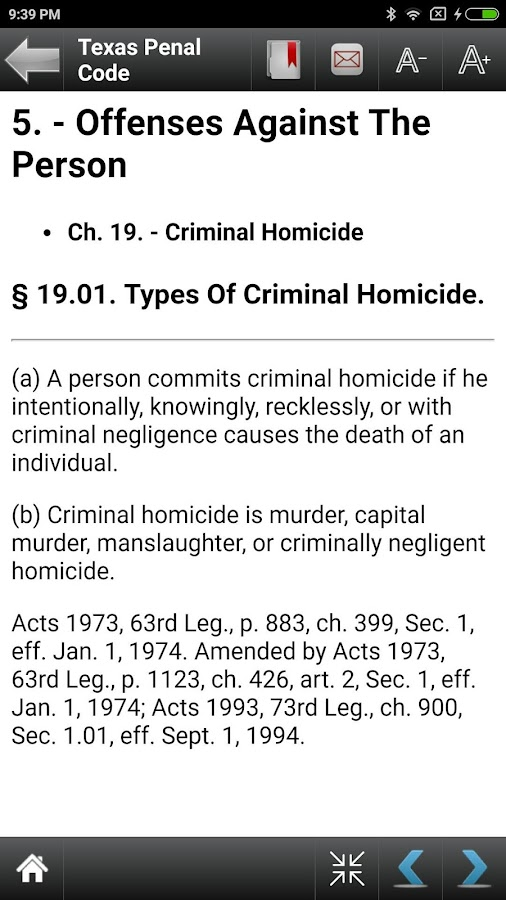 TX Penal Code 84th Legislature- screenshot