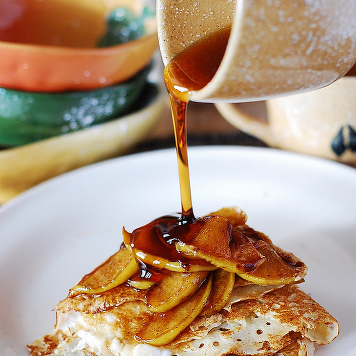 Crepes with Caramelized Apples and Ricotta Cheese Filling Recipe