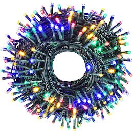Instalatie de brad 100 LED, 9 metri, 5 culori, 8 jocuri lumini