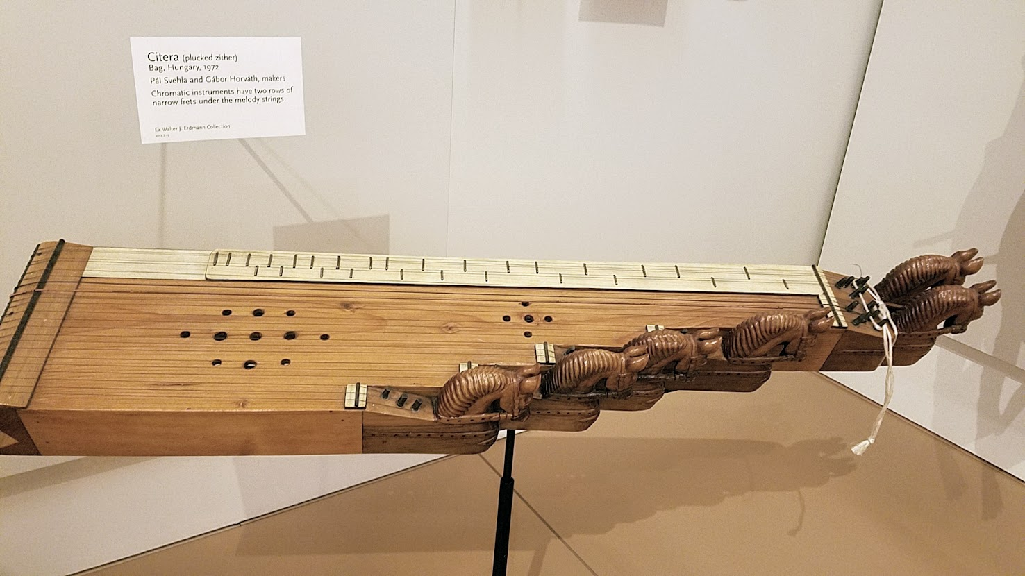Music Instrument Museum (MIM) Geographic galleries, Citera (plucked zither) from Hungary