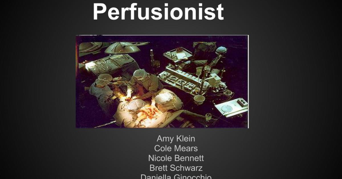 Perfusionist Google Slides