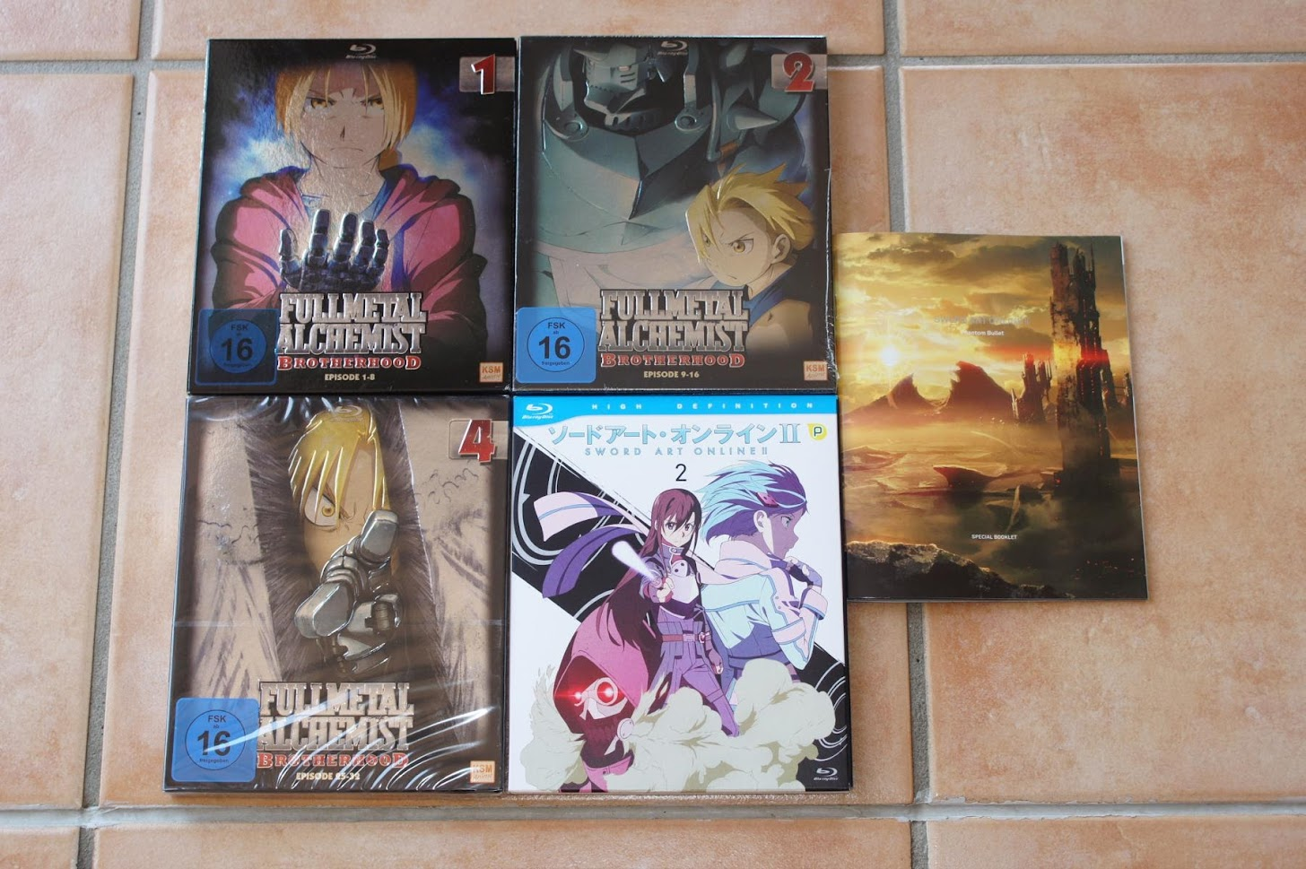 Anime Blu-ray Fullmetal Alchemist Brotherhood Sword Art Online 2
