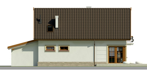 Dom przy Alabastrowej 16 - Elewacja tylna