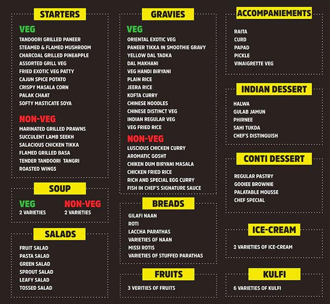 Barbeque Nation menu 1