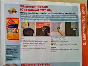 Photo: características del mortero txt