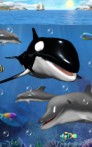 Dolphins and orcas wallpaper screenshot 1