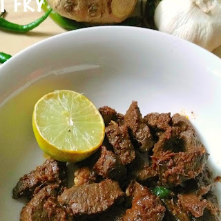 EASY BEEF HEART FRY ( recipe with nutritional facts)