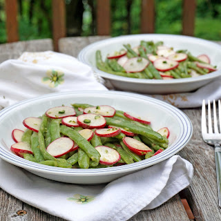Green Bean and Radish Salad with Garlic Scape & Mustard Vinaigrette