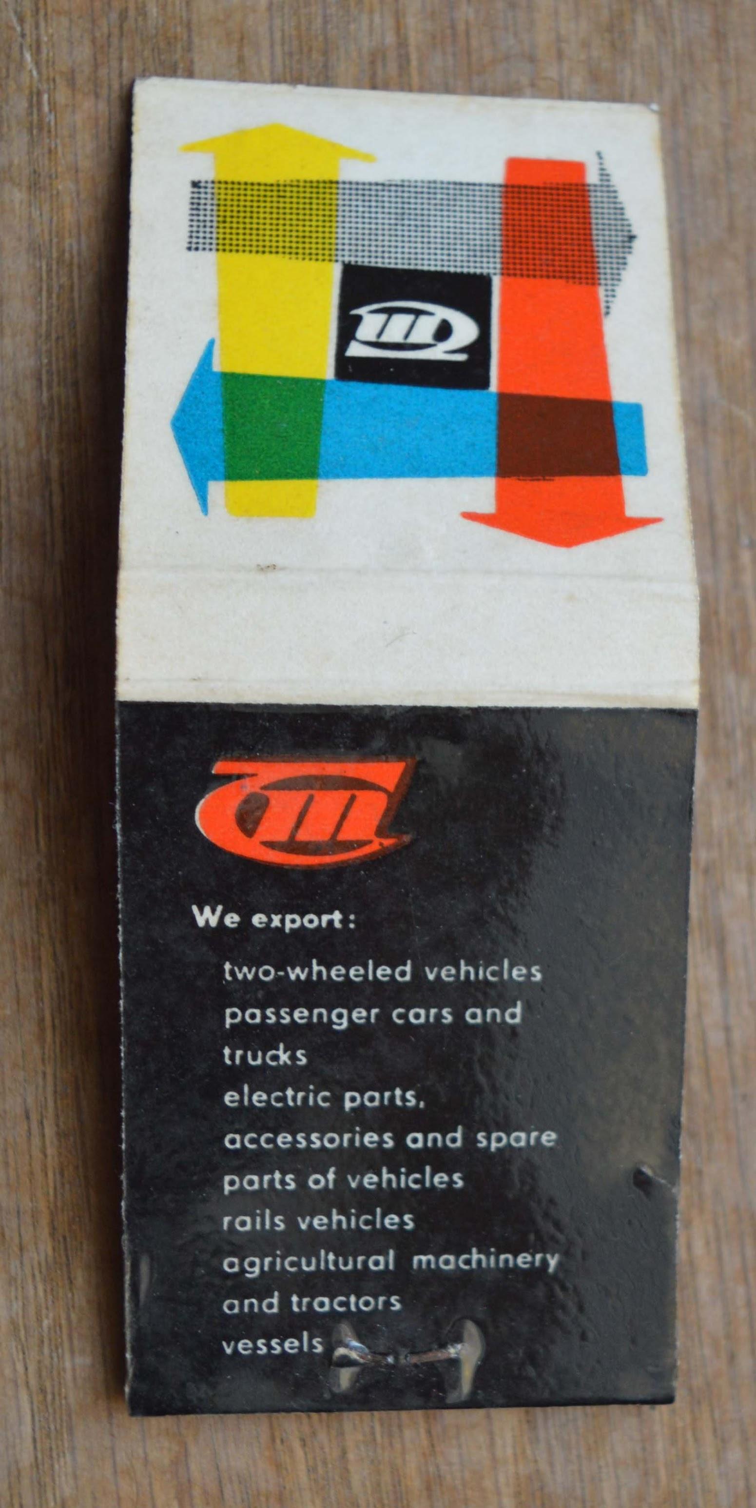 Streichholzbriefchen - Transportmaschinen Export - Import