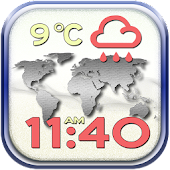 World Weather and Clock Widget