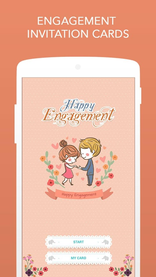 Engagement invitation cards android apps on google play engagement invitation cards screenshot stopboris Choice Image
