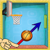 pull the ball - Obstacle free throw basket