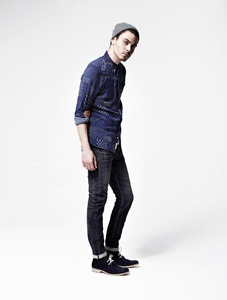Photo: Daito Shirt>>  UK>http://bit.ly/MYPjbK US>http://bit.ly/Ply1Se  Shanta Cigarette Jeans>>  UK>http://bit.ly/M3l3wT US>http://bit.ly/MypxZ7  Tonic Scoop Tee>>  UK>http://bit.ly/Onxe4x US>http://bit.ly/Qv4P2f  Farrell Boot>>  UK>http://bit.ly/OnxlNz US>http://bit.ly/QoAI9U  Ridge Beanie>>  UK>http://bit.ly/R4lFQe US>http://bit.ly/T327if
