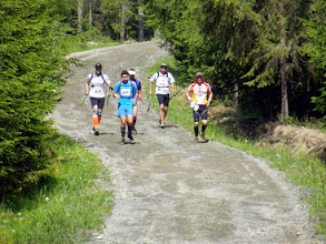 Photo: It's always easy (or at least easier)to run with fellow runners as company.