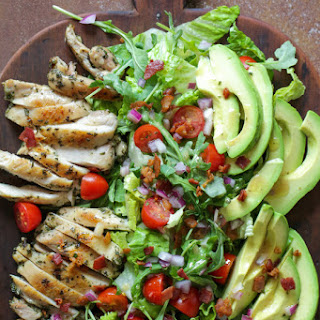Rosemary Chicken Salad with Avocado and Bacon.