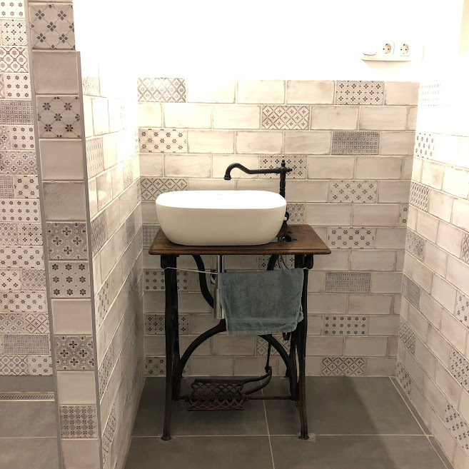 Vita Blanco rusztikus fürdőszoba