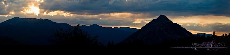 Photo: A view from Mt. Shasta  Pyramid Mt. Lassen