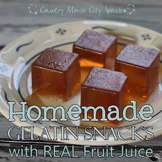 Healthy Homemade Gelatin Snacks using Real Juice.