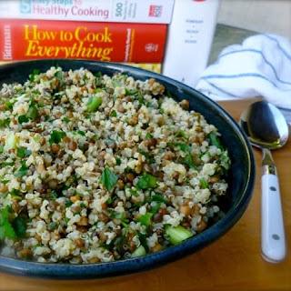 Lemony Lentil Quinoa Salad Recipe