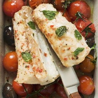 Monkfish and Tomato Bake.