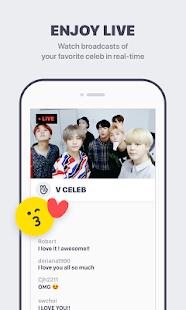 V – Live Broadcasting App - náhled