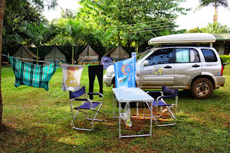 Photo: Our camp in Jinja