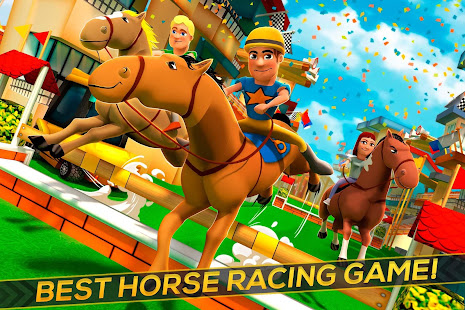 Cartoon Horse Riding Derby Racing Game For Kids Apps On Google Play