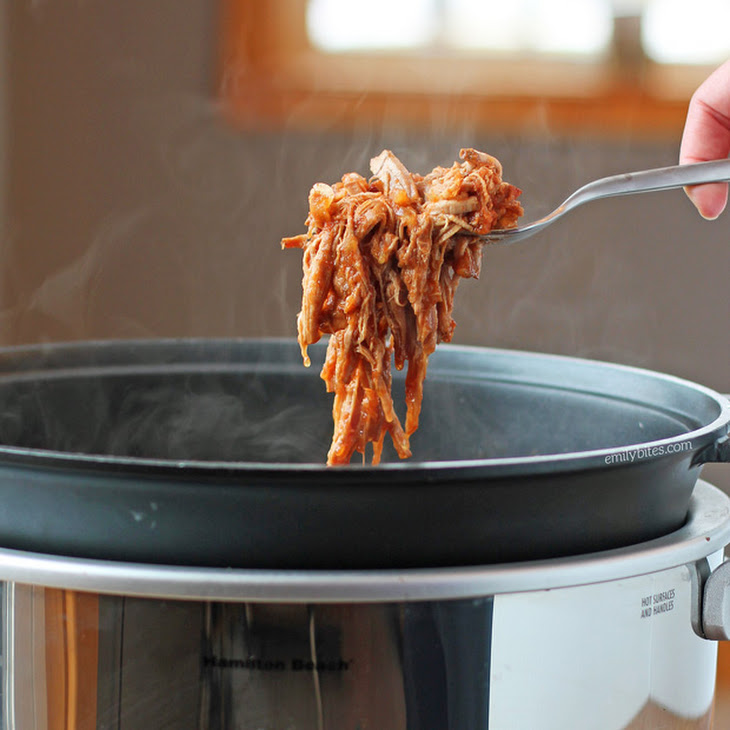 Slow Cooker Apple Bacon BBQ Pulled Pork Recipe