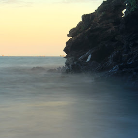 Sea by Havidz Zhurrahman - Landscapes Caves & Formations ( low speed, balikpapan, caves, sea, beach, landscapes )