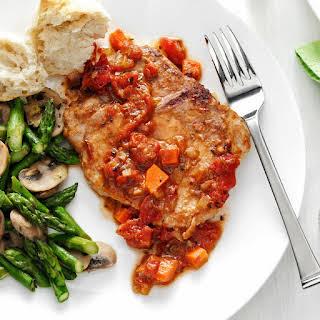 Tomato-Topped Italian Pork Chops.