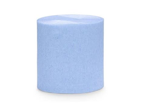 4-pack Crepepapper på rulle - ljusblå