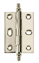 Photo: BH3A-PN for mortised inset cabinet doors in Polished Nickel finish
