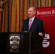 Photo: BBA President Paul Dacier took the stage to offer some opening remarks about Chief Ireland.