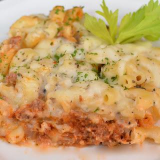 Macaroni with Beef Mince.