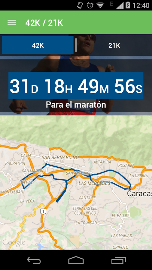 Maratón CAF- screenshot