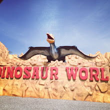 Photo: we couldn't stop, but man is it fun to see dinosaur statues!