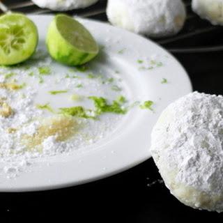 Thai Ginger Key Lime Wedding Cookies.