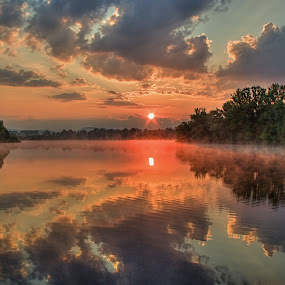 Bude krásný den... by Miloš Stanko - Landscapes Sunsets & Sunrises ( slunce, obloha, voda )
