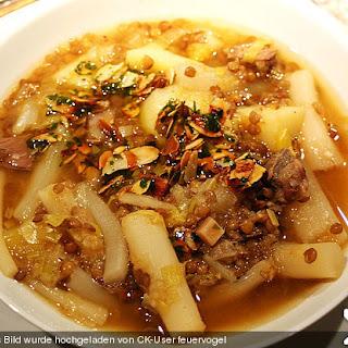 Schwarzwurzel - Kartoffel - Eintopf mit Mandelvinaigrette
