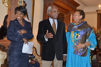 Photo: Cheryl Wills, NY1 News with Theodore and Jackie Charity, Honorees