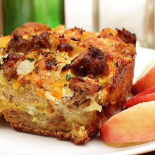 Breakfast or Brunch Egg Casserole With Sausage.