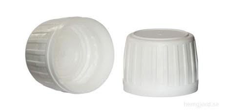 Kapsyl - vit, 28 mm PET/glas