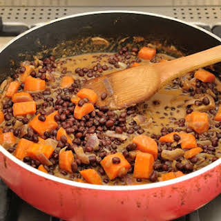 Sweet and Savory Soy Peanut Butter Maple Adzuki beans.