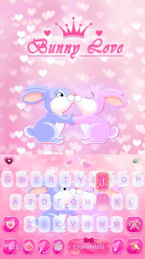 Bunny Love Emoji KeyboardTheme