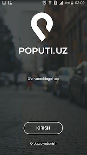 Poputi.uz- screenshot thumbnail