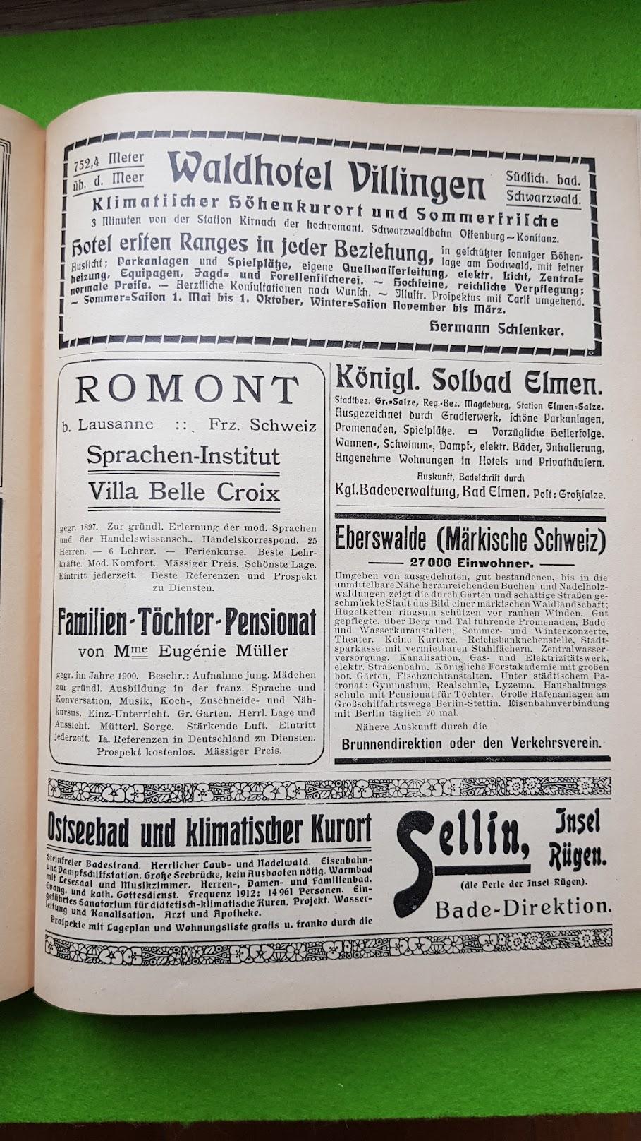 Großer Volkskalender des Lahrer hinkenden Boten - 1914 - Urlaubsangebote