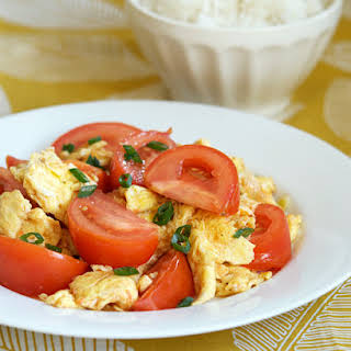 Stir-fried Tomato and Eggs.