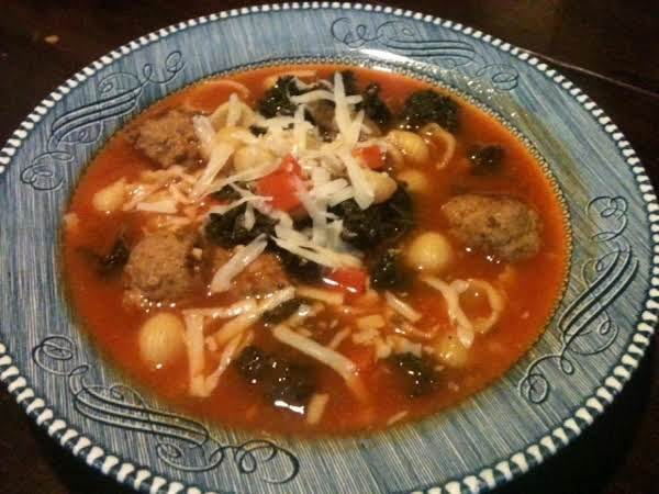 Italian Style, Turkey Meat-ball Soup Recipe